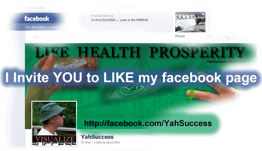 YahSuccess Like My FaceBook Page