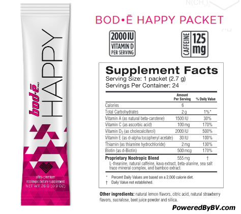 Bode Pro Happy Ingredients