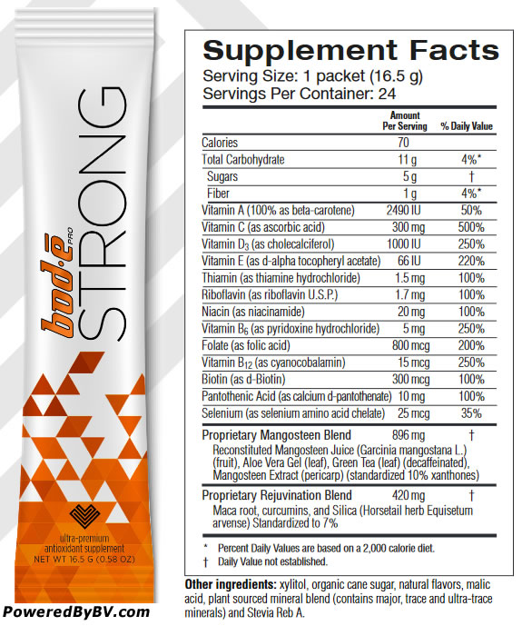 Bode Pro Strong Supplemental Facts