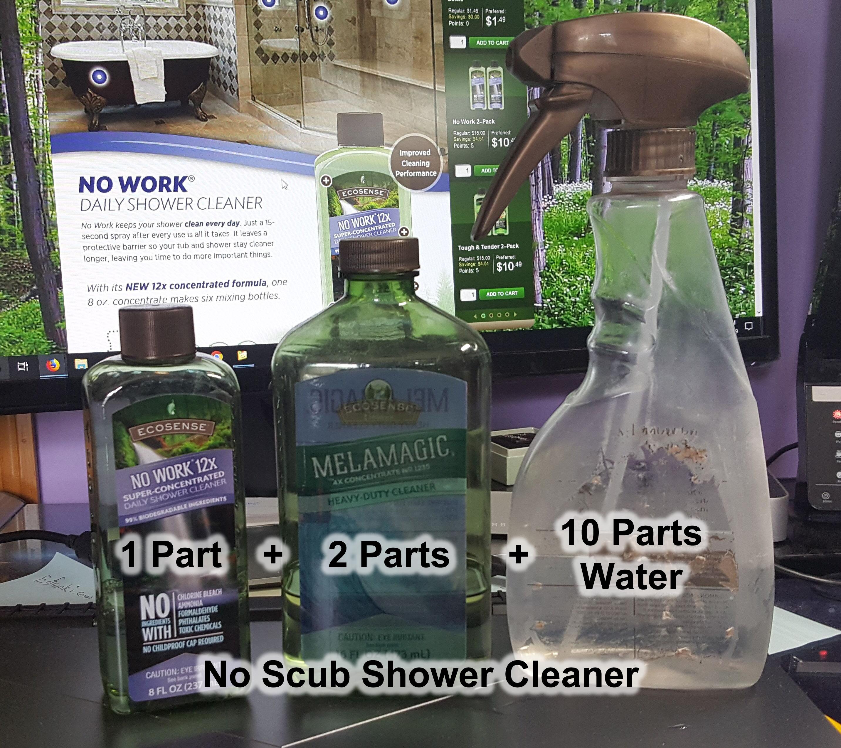 No Scrub Shower Cleaner